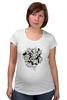 """Футболка для беременных """"Абстрактные цветы"""" - авторские майки, цветы, узор, винтаж"""