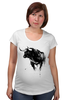 """Футболка для беременных """"Черный Бык"""" - животные, black, бык, bull"""