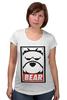 """Футболка для беременных """"Мишка (Bear, Obey)"""" - bear, медведь, obey"""