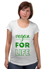 "Футболка для беременных ""Vegan for life"" - веган, vegan"