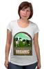 """Футболка для беременных """"Органик"""" - organic, farming, milk farm, органическое сельское хозяйство, cows"""