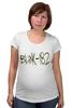 """Футболка для беременных """"blink-182 yellow logo"""" - ava, blink 182, angels&airwaves, blink182, tomdelonge"""