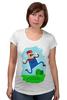 """Футболка для беременных """"Марио (Mario)"""" - nintendo, mario, марио, грибочек"""