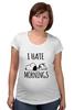 """Футболка для беременных """"Я ненавижу утро (I Hate Mornings)"""" - dog, сон, щенок, snoopy, я ненавижу утро"""