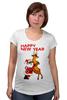 """Футболка для беременных """"Happy New Year"""" - праздник, happy new year, новый год, стиль, санта, олень, santa claus, deer"""