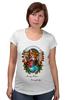 """Футболка для беременных """"Merry Xmas Everybody"""" - арт, стиль, рисунок, fox, лиса, индеец, native american"""