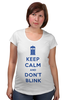 "Футболка для беременных ""Keep Calm and Don't Blink (Tardis)"" - сериал, doctor who, tardis, доктор кто, машина времени"
