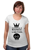 "Футболка для беременных ""Madness"" - skull, корона, фэшн, череп, crown"
