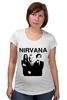 "Футболка для беременных ""nirvana"" - grunge, гранж, nirvana, kurt cobain, курт кобейн, нирвана, альтернативный рок"
