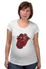 """Футболка для беременных """"Rolling Stones' 50th Anniversary """" - любовь, rock, логотип, язык, рок-н-ролл, rolling stones, юбилей"""