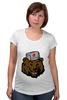 """Футболка для беременных """"Russian Bear (Русский медведь)"""" - bear, медведь, россия, russia, путин"""
