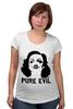"Футболка для беременных ""Pure Evil"" - граффити, дизайн, винтаж, марлен дитрих, pure evil"