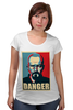 "Футболка для беременных ""Danger (Breaking Bad)"" - pop art, obey, во все тяжкие, breaking bad"