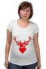 """Футболка для беременных """"Ho Ho Ho..."""" - christmas, deer, reindeer"""