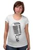 """Футболка для беременных """"Микрофон"""" - музыка, микрофон, хип хоп, реп, джаз, mic"""