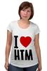 "Футболка для беременных ""I LOVE HIM"" - heart, i love, love is"