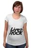 """Футболка для беременных """"LiveInRock"""" - рок, rock"""