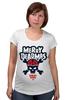 "Футболка для беременных ""Merry Deadmas "" - skull, christmas, merry, santa zombie"