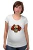 """Футболка для беременных """"Mrs. Skull"""" - череп, цветы, рисунок"""