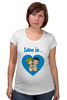 "Футболка для беременных ""love is..."" - heart, love is"