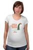 """Футболка для беременных """"Open Water Swim Nessy"""" - соревнования, плавание, открытая вода, триатлон, nessy"""