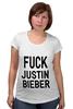 """Футболка для беременных """"Fuck Justin Bieber"""" - секс, звезды"""