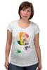 """Футболка для беременных """"Креативный портрет"""" - авторские майки, smile, рисунок, улыбайся, color"""