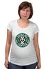 """Футболка для беременных """"Drink me Coffee (Налей мне Кофе)"""" - кофе, coffee, алиса в стране чудес, alice in wonderland"""