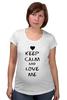 """Футболка для беременных """"Love Me"""" - сердце, любовь, 14 февраля, влюбленные, keep calm"""