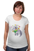 """Футболка для беременных """"Праздничный муравьед"""" - цветы, животные, 8 марта, маме, муравьед"""