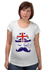 """Футболка для беременных """"Английский джентельмен"""" - джентельмен, усы, uk, великобритания, моноколь"""