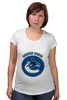 """Футболка для беременных """"Vancouver Canucks"""" - хоккей, nhl, нхл, vancouver canucks, ванкувер кэнакс"""