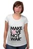 "Футболка для беременных ""Make Love Not War"" - social"