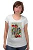 """Футболка для беременных """"Королева сердец"""" - любовь, карты, рисунок, винтаж, королева"""
