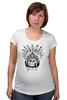 """Футболка для беременных """"Череп индейца"""" - череп, индеец, перья, череп индейца, череп с перьями"""