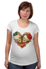 "Футболка для беременных ""Skull Art"" - skull, череп, сердце, heart, цветы"