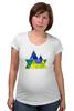 """Футболка для беременных """"Весна в горах"""" - орнамент, акварель, паттерн, треугольники, треугольный"""
