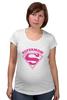 "Футболка для беременных ""Супермама (Supermom)"" - супер, super, мама, mom, supermom"