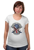 """Футболка для беременных """"Skull Art"""" - череп, free, американский флаг, american flag, череп и кости"""