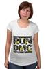 "Футболка для беременных ""RUN DMC"" - rap, цветы, нью-йорк, хип-хоп, run, dmc, nyc, run dmc, ран ди-эм-си"