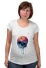 "Футболка для беременных ""Bleeding skull"" - skull, череп, apple"