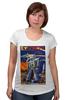"""Футболка для беременных """"Bad Robot"""" - red, винтаж, robot, робот, иллюстрация, blue, vintage, журнал, обложка"""