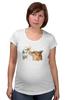 """Футболка для беременных """"Лис. Акварель"""" - графика, лис, цветы, fox, акварель"""