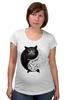 """Футболка для беременных """"Угрюмый Кот Инь-Янь"""" - cat, инь и ян, grumpy cat, угрюмый кот"""