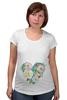 """Футболка для беременных """"сердце"""" - сердце, heart, цветы, rose, акварель"""