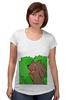 """Футболка для беременных """"Медведь из кустов"""" - медведь, распутница, медведь из кустов, блудница"""