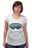 "Футболка для беременных ""Зимний Спорт (Winter Sport)"" - очки, горы, лыжи, сноуборд, snowboard"