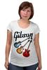 "Футболка для беременных ""Gibson"" - гитара, рок, gibson, гибсон"