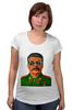 """Футболка для беременных """"Сталин"""" - вождь, сталин, stalin"""