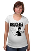 "Футболка для беременных ""Bruce Lee"" - karate, bruce lee, fighter, карате, брюс ли"